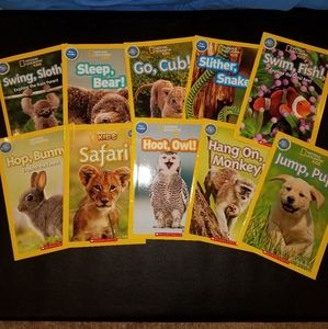 National Geographic Kids Pre-reader 10 book bundle